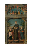 St. Bernardine of Siena and Angels Posters by Andrea Mantegna