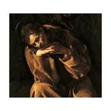 Saint Francis in Prayer Julisteet tekijänä  Caravaggio
