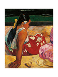 Tahitian Women Poster by Paul Gauguin
