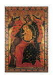 Madonna and Child with two Votaries Poster von Paolo Veneziano