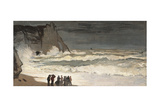 Rough Sea at Etretat Posters por Claude Monet