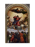 Assumption of the Virgin Kunst af  Titian (Tiziano Vecelli)