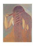 La chevelure (The Head of Hair),Henri-Edmond Cross, 1892. Musee d'Orsay, Paris, France Posters by Henri Edmond Cross