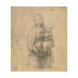 Drawing, Madonna and Child at two thirds figure Giclée-Premiumdruck von  Raphael