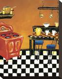 Retro Kitchen IV Stretched Canvas Print by Krista Sewell