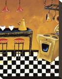 Retro Kitchen III Stretched Canvas Print by Krista Sewell