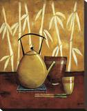 Bamboo Tea Room I Reproducción de lámina sobre lienzo por Krista Sewell