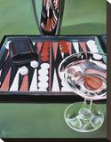Backgammon Stretched Canvas Print by Paul Kenton
