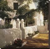 Binisaida de sa Creueta Stretched Canvas Print by Poch Romeu