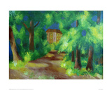 Red house in a park 1914 Giclee Print by Auguste Macke