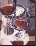 Red Wine in Venice Stretched Canvas Print by Paul Kenton