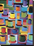 Java Time Bedruckte aufgespannte Leinwand von Kathryn Fortson
