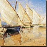 White Sails I Stretched Canvas Print by Jaume Laporta