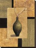 Olive Still Life II Stretched Canvas Print by Cyndi Schick