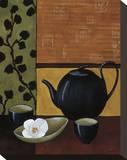 Sakura Tea I Stretched Canvas Print by Krista Sewell