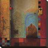Garden Ensemble Reproducción de lámina sobre lienzo por Don Li-Leger