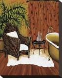 Rattan Bath Stretched Canvas Print by Krista Sewell