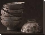 Rice Bowls Trykk på strukket lerret av Heather Jacks