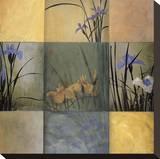 Iris Nine Patch Opspændt lærredstryk af Don Li-Leger