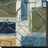 Retro Flux I Stretched Canvas Print by Leslie Bernsen