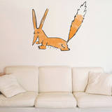 Le Petit Prince - Le renard aquarelle Vinilo decorativo
