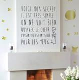 Le Petit Prince - Le secret (sticker murale) Decalcomania da muro