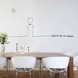 Le Petit Prince - Dessine-moi un mouton au trait (sticker murale) Decalcomania da muro