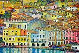 Gustav Klimt Malcena at the Gardasee ポスター : グスタフ・クリムト