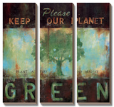 Green Planet Posters by Wani Pasion