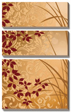 Golden Flourish II Prints by Edward Aparicio