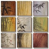 Bamboo Nine Patch II Print by Don Li-Leger