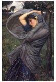 Boreas Plakat af John William Waterhouse