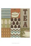 Tea Collage Kunstdrucke von Erica J. Vess