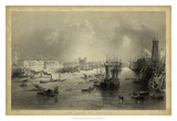 The Port of London Reproduction procédé giclée par  W.H.Bartlett