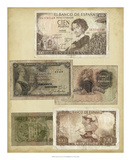 Antique Currency I Giclee Print by  Vision Studio