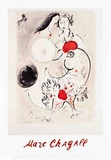 Pair of Lovers with Rooster Posters van Marc Chagall