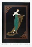 Emerald Night Collectable Print by  Erté