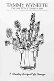 Country Bouquet with Delphinium (for Tammy Wynette) Samlertryk af Tom Wesselmann