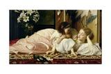 Mother and Child (Cherries) c.1865 Giclée-Druck von Frederick Leighton