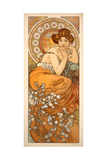 The Precious Stones: Topaz, 1900 Giclée-tryk af Alphonse Mucha