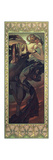 The Moon and the Stars: Evening Star, 1902 Giclee-trykk av Alphonse Mucha