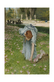 Flora - Spring in the Gardens of the Villa Borghese Giclee Print by Sir Lawrence Alma-Tadema