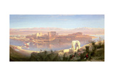 The Island of Philae, Nubia Giclée-tryk af David Roberts