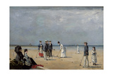 A Game of Croquet, 1872 Giclee-trykk av Louise Abbema