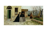 The Visit, 1868 Reproduction procédé giclée par Silvestro Lega