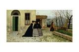 The Visit, 1868 Giclée-tryk af Silvestro Lega