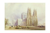 York Minster: North West View Giclee Print by Frederick Mackenzie