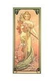 The Seasons: Spring, 1900 ジクレープリント : アルフォンス・ミュシャ