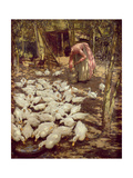 The Small Holding, 1896 Giclee Print by Henry Herbert La Thangue