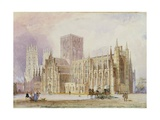 York Minster: South View Giclee Print by Frederick Mackenzie